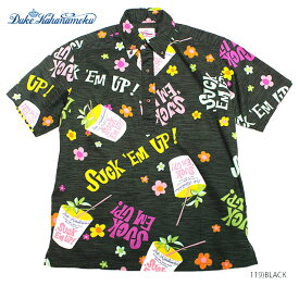 "DUKE KAHANAMOKU アロハシャツCOTTON PULLOVER BD SHIRT""Suck'Em Up!""Style No.DK38083"