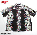 """SUN SURF サンサーフ アロハシャツRAYON S/S""""CATTLEYA ORCHID""""Style No.SS37772"""