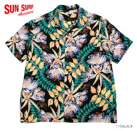 "SUN SURF サンサーフ アロハシャツRAYON S/S""ORCHID BLOOM""Style No.SS38035"