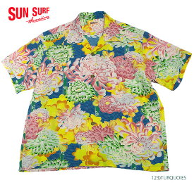"SUN SURF サンサーフ アロハシャツRAYON S/S""COVERED WITH CHRYSANTHEMUM""Style No.SS38043"