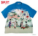 "SUN SURF サンサーフ アロハシャツRAYON S/S""OLD JAPANESE SCENERY""Style No.SS38030"