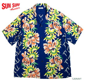 """SUN SURF サンサーフアロハシャツRAYON S/S""""ISLAND FLOWER SHOWER""""Style No.SS38038"""