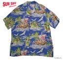 """SUN SURF サンサーフ アロハシャツRAYON S/S""""TREASURE SHIP""""Style No.SS35332"""