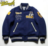 "WHITESVILLE×UCLAホワイツビルスタジャン30oz.AllMeltonAwardJacketCollaborationModel""UCLA""No.WV14220"