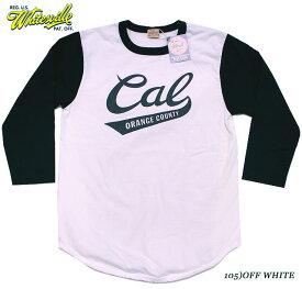 """WHITESVILLEホワイツビルBASEBALL T-SHIRTS""""Orange County, California""""Style No.WV68821"""