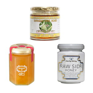 生蜂蜜 ギフトセット 生はちみつ 3点セット 世界のはちみつ【ハワイアンノニハニー280g・シドルハニー140g・レザーウッド180g】3種類の100%オーガニックな糖分、酵素そのままの世界の天然生ハ