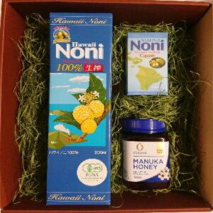 ギフト 生蜂蜜!天然の成物(MGO550)をたっぷり含んでいるマヌカハニー&全米製法特許 ノニ果肉を乾燥粉末に成分濃縮 お出かけに持ち運びに便利なカプセルタイプ「マヌカハニーMGO550 500g」