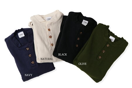 CAMBERキャンバーヘビーウェイト長袖ヘンリーネックジャージーTシャツ14.5oz.全4色ヘビーウェイトパーカーxl長袖ロンTEE#964