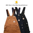 Carhartt(カーハート)#R01 Men's Duck Bib Overall/Unlined  ダブルニーダック オーバーオールMADE IN USA アメリカ製【ワークパン…