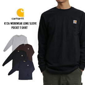Carhartt カーハート K126 メンズ Tシャツ 長袖 WORKWEAR LONG SLEEVE POCKET T-SHIRT ワークウェア ロングスリーブ ポケットTシャツ 全4色