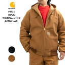 Carhartt カーハート アクティブジャケット ダック ワークジャケット メンズ DUCK THERMAL-LINED ACTIVE JAC アクティブジャケット アクティブパーカー マウンテンパ