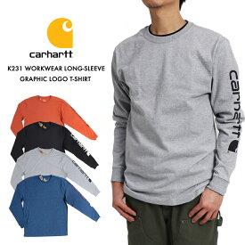 carhartt カーハート K231 Tシャツ 長袖 メンズ シャツ ロングスリーブグラフィックロゴTシャツ Tee WORKWEAR LONG-SLEEVE GRAPHIC LOGO T-SHIRT ロングスリーブグラフィックロゴTシャツ