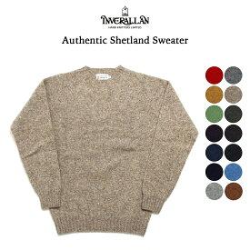 INVERALLAN インバーアラン シェットランドセーター オーセンチック ニットウェア アランニット クルーネックセーター ニット セーター ウール sweater レッド グリーン ネイビー ブラック グレー ベージュ ブラウン ブルー 英国製