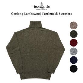 INVERALLAN インバーアラン ジーロンラムズウール タートルネックセーター ニットウェア ハイネック ニット セーター ウール sweater レッド グリーン ネイビー ブラック グレー ベージュ 英国製