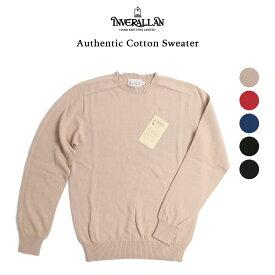 INVERALLAN インバーアラン コットンセーター オーセンチック ニットウェア クルーネックセーター ニット セーター コットン sweater レッド ベージュ ブルー ブラック グレー ベージュ グリーン 英国製