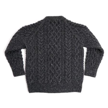 インバーアランダブルドネガルヤーンハンドニットクルーネックセーター