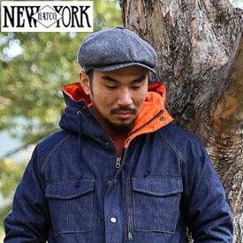 New York Hat Co(ニューヨークハット) HERRINGBONE NEWSBOYウールヘリンボーンニュースボーイキャスケット 全2色