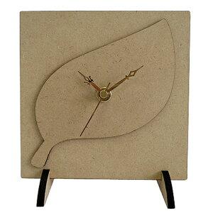 スタンドクロックキット 【葉っぱ】工作 時計 素材 木製 トールペイント デコパージュ アシーナ 夏休み