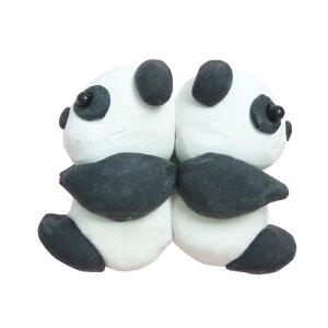 アシーナ スカルピー3キット 双子パンダ (ブローチ) 簡単 手作りキット