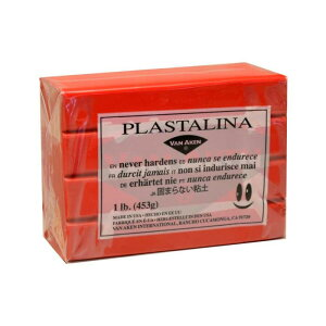 MODELING CLAY(モデリングクレイ) PLASTALINA(プラスタリーナ) 粘土 レッド 1Pound 3個セット