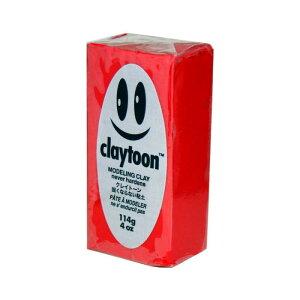 MODELING CLAY(モデリングクレイ) claytoon(クレイトーン) カラー油粘土 レッド 1/4bar(1/4Pound) 6個セット