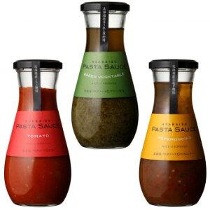 ノースファームストック 北海道パスタソース 3種 トマト/グリーン野菜/ペペロンチーノ 4セット