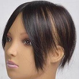 人毛100% ヘアーピース 分け目カバーのヘアピース ナチュラルブラック TP40