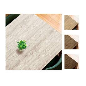 貼ってはがせるテーブルデコレーション クラッシュウッド 90×150cm W(ホワイト)