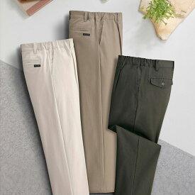 らくらくゆったり ストレッチ メンズ チノパンツ3色組(裾上げ済み) スラックス チノパン メンズ スボン C907150