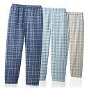 お父さんのゆったりパジャマズボン 同サイズ3色組(メンズ 紳士用 パジャマ パンツ)AS-0008