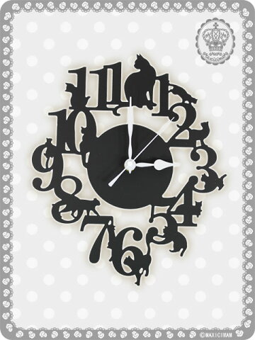 シャノワール掛け時計ONteoiAKT【マキシマム/ロリータ/甘ロリ/ゴスロリ/アリス/ドール】