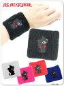 ネコミミ9WR001XLふりむきジュピン刺繍リストバンド(ゴスロリ、パンク、キャラクター)
