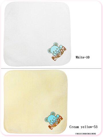 8WT001チョコミントくまのコティちゃん刺繍のハンドタオル(ゆめかわいいロリータ)