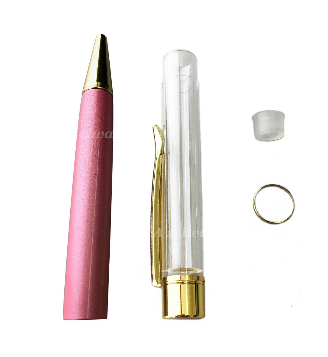 ハーバリウム ボールペン 本体 自作 手作り キット カスタマイズ オリジナル (ピンク/A00939)