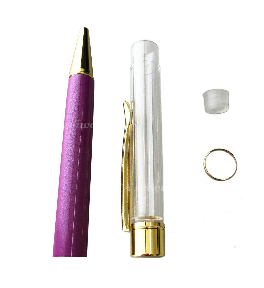 ハーバリウム ボールペン 本体 自作 手作り キット カスタマイズ オリジナル (パープル/A00940)