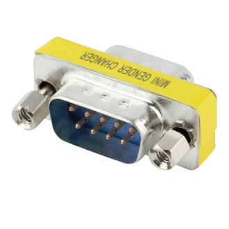 Gender changer D-Sub9 pin male - male serial connection adapter one (A01140)