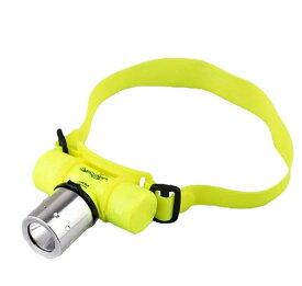 防水 ダイビング ヘッドライト 1800ルーメン LEDライトCREE 80m防水 点灯3モード