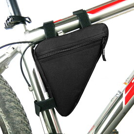 B-SOUL 自転車 フレームバッグ トライアングル ロードバイク ブラック無地A01956 ポイント消化