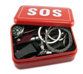 1000円ポッキリ 送料無料 緊急 サバイバル 万能 ツール まとめて 6点セット 救急箱 道具 SOS 工具 ナイフ 笛 ホイッスル ファイヤースターターアウトドア