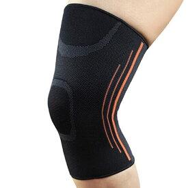 膝用サポーター 膝スリーブ サイドライン フリーサイズ 男女兼用 左右兼用 1枚A01788