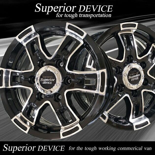 ■ Superior DEVICE ■ハンコック 195/80R15 バン用タイヤ付200系ハイエース推薦モデル!!