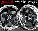 ■ STEALTH Racing K36 ■チューニング軽四用 前後異幅リム 5.5/6.0J新品ホイール+タイヤ4本SetHankookタイヤ付