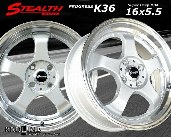 ■ STEALTH Racing K36 ■軽四用新品ホイール+タイヤ4本SetGOODYEAR 165/50R16タイヤ付ステラ/ラパン/ワゴンR/タント/ウェイク/ミライース/ムーブコンテ/ライフ/N-BOX/N-ONE/N-WGNなど