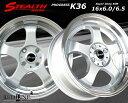 ■ STEALTH Racing K36 ■チューニング軽四用 前後異幅/幅広リム 6.0/6.5J新品ホイール+タイヤ4本SetHankookタイヤ付