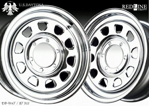 ■ U.S.Daytona デイトナ ■GOODYEARナスカー 215/65R16 タイヤ付クロームメッキ 200系ハイエース他