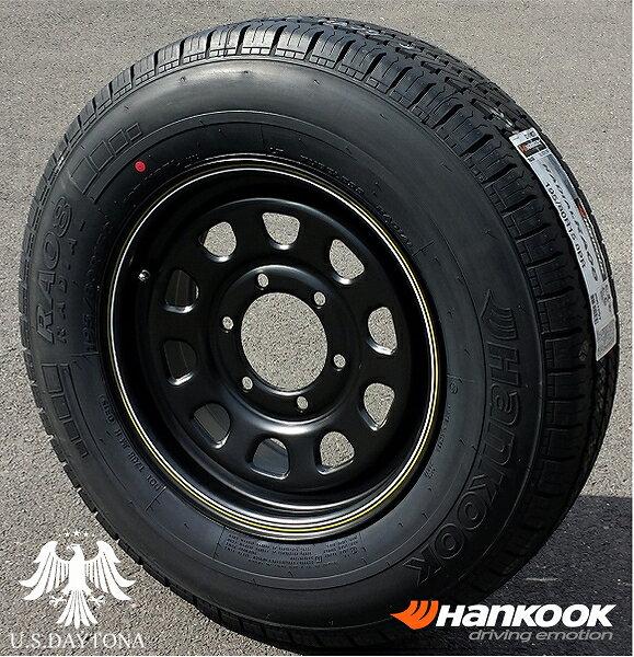 ■ U.S.Daytona デイトナ ■Hankook 195/80R15 タイヤ付4本セットマットブラックカラー 日産NV350/E26キャラバン他