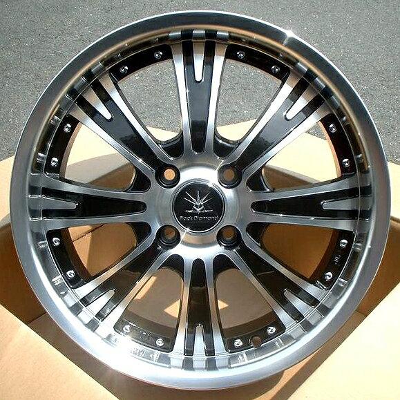 ■ Black Diamond BD08 ■Hankook165/55R15タイヤ付4本セットは、現在値下期間中↓↓ステラ/ラパン/ワゴンR/タント/ウェイク/ムーブ/N-BOX/N-ONE/N-WGNなど軽四に!!