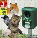 1年保証 【2台セット】猫よけ 猫対策 猫撃退 害獣撃退 アニマル ガーデン バリケード超音波 & ストロボライト で害獣…
