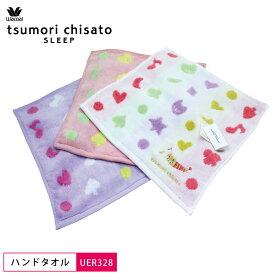 15%OFF ワコール wacoal ツモリチサト tsumori chisato ハンドタオル トランプドット 綿100% 無撚糸 25cm×25cm UER328