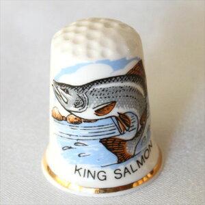 キングサーモン King Salmon 鮭 シンブル 指貫き ソーイング コレクション アイテム プレゼント 魚 フィッシング